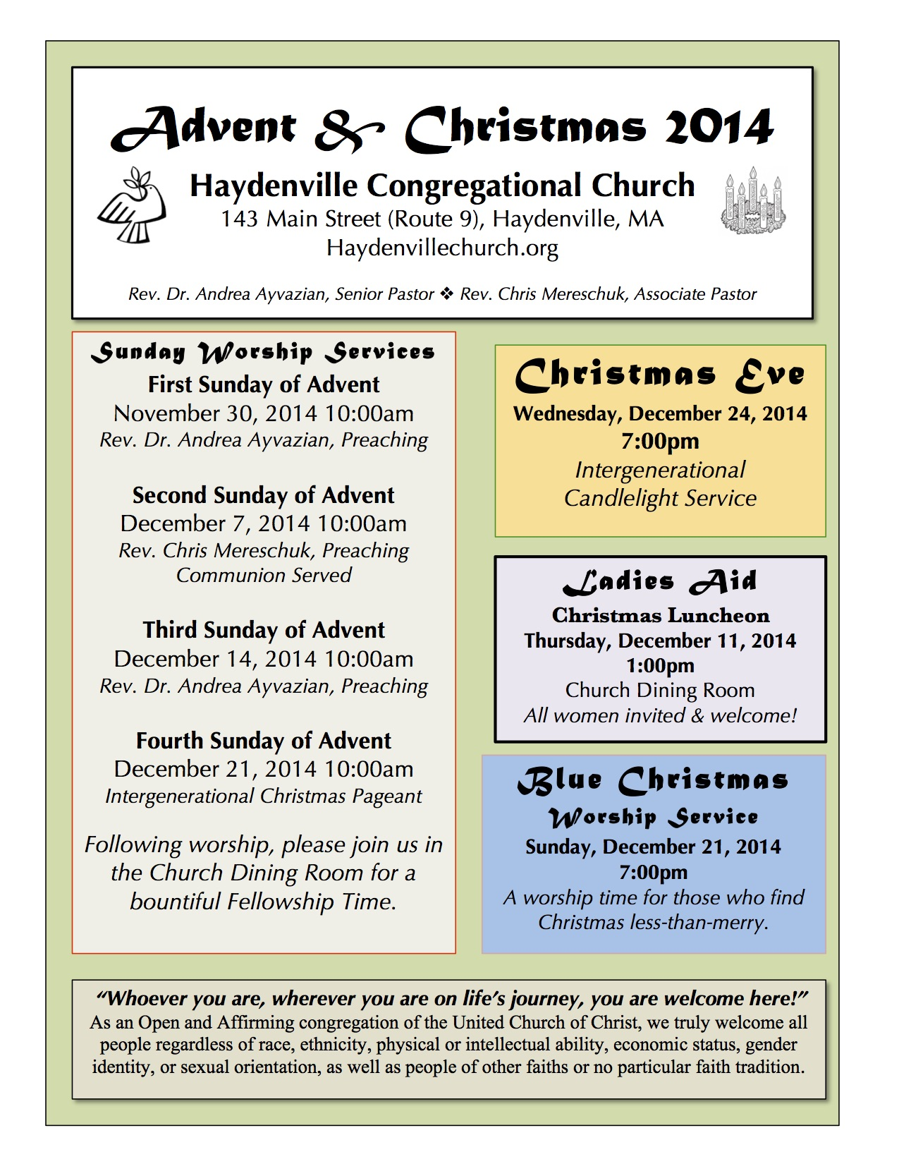 Advent Christmas 2014 Flyer Version 2 copy